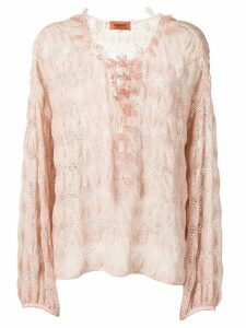 Missoni crochet knit top - Pink