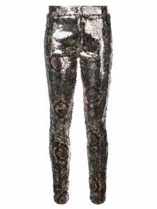 Isabel Marant sequin pattern leggings - SILVER