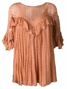 Mes Demoiselles Dawson ruffle top - ORANGE
