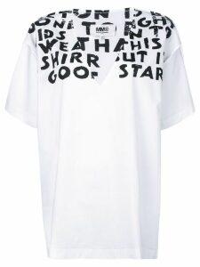 Mm6 Maison Margiela slogan detail T-shirt - White