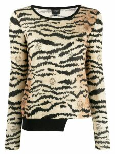 Giambattista Valli tiger print jumper - Neutrals