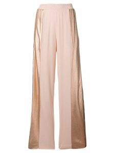 Nude sequin track trousers - PINK