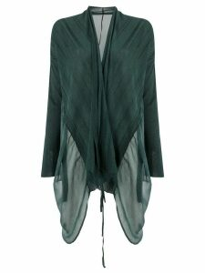 Masnada long sheer cardigan - Green