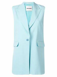 Each X Other oversized sleeveless blazer - Blue