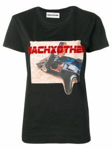 Each X Other car print T-shirt - Black