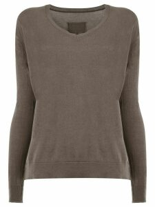 Private 0204 V-neck jumper - Grey