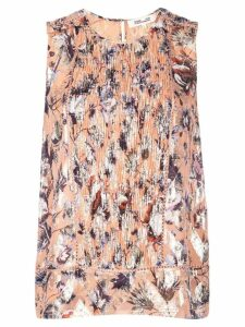 Diane von Furstenberg printed gathered front blouse - Orange