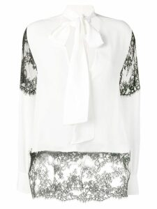 MSGM white lace top