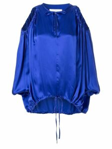 Marques'Almeida oversized cut-out blouse - Blue