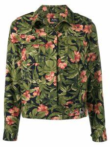 A.P.C. flower shirt jacket - Blue