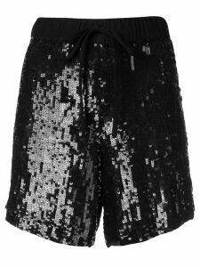 P.A.R.O.S.H. sequin-embellished shorts - Black