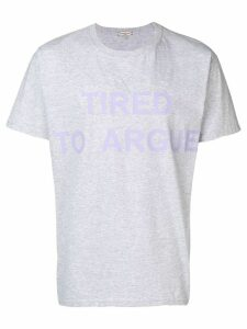 Natasha Zinko oversized Tried to Argue T-shirt - Grey