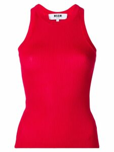 MSGM ribbed tank top - Red