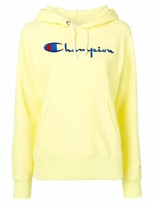 Champion embroidered logo hoodie - Yellow