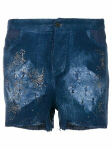 Avant Toi distressed shorts - Blue