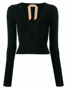 Nº21 cut-out jumper - Black