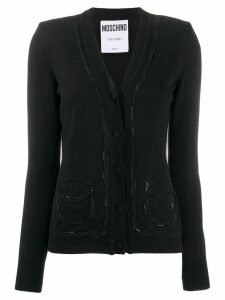 Moschino crystal embellished cardigan - Black