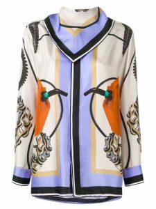 Each X Other bandana detail printed blouse - Blue