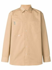 Wwwm logo long-sleeve shirt - NEUTRALS