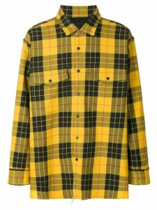 Wwwm plaid long-sleeve shirt - Yellow