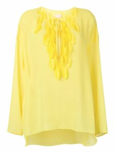 Giamba feather tassel blouse - Yellow