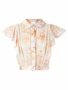 Alice+Olivia Cavan embroidered blouse - Orange