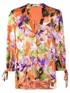 Alice+Olivia Sheila floral print blouse - ORANGE