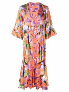 Alice+Olivia Dandi ruffled kimono - ORANGE