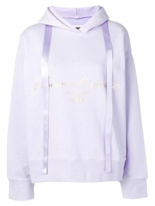 Mm6 Maison Margiela printed logo hoodie - Purple