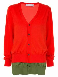 Toga colour-block cardigan - Red