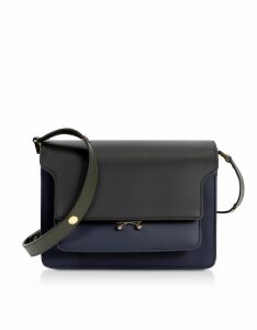 Marni Designer Handbags, Color Block Leather Trunk Bag