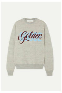 Golden Goose - Printed Flocked Cotton-jersey Sweatshirt - Gray