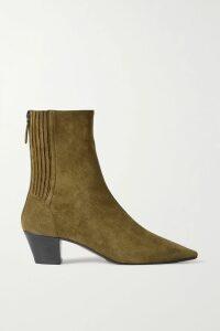 Miguelina - Tilly Crochet-trimmed Linen Bralette - Blue