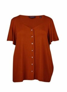 Womens Dp Curve Ginger Button Down Top, Ginger