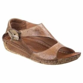 Riva  Arlo Leather Womens Low Wedge Sandal  women's Sandals in Brown