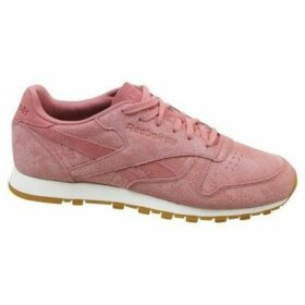 Reebok Sport  CL Lthr Clean Exotics  women's Shoes (Trainers) in Pink
