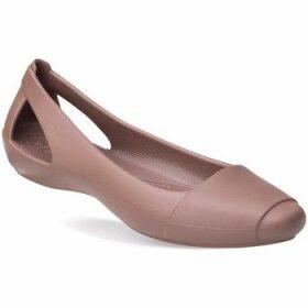 Crocs  Sienna Flat W  women's Shoes (Pumps / Ballerinas) in Brown