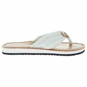 Tommy Hilfiger  Leather Footbed Beac Whisper  women's Flip flops / Sandals (Shoes) in White