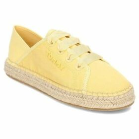 Tommy Hilfiger  Flat Pastel  women's Shoes (Trainers) in Yellow