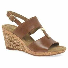 Gabor  Keira Womens Wedge Heel Sandals  women's Sandals in Brown