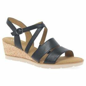 Gabor  Protect Womens Wedge Heel Sandals  women's Sandals in Blue
