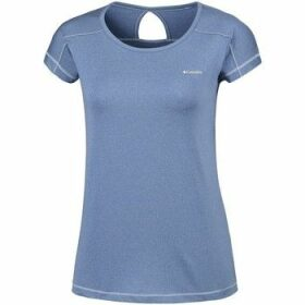 Columbia  Peak TO Point  women's T shirt in Blue