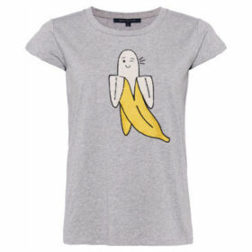 French Connection  Printed T-shirt Crew neck Short sleeves  women's T shirt in Grey