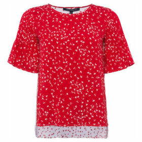 French Connection  Blouse Crew neck Short sleeves  women's Blouse in Red