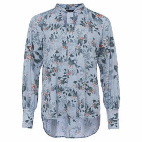 French Connection  Long Sleeve Printed Blouse  women's Shirt in Blue