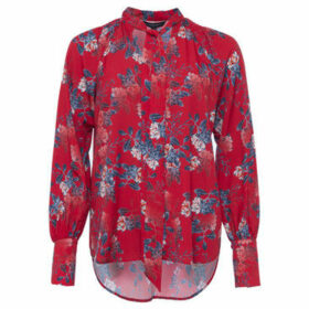French Connection  Long Sleeve Printed Blouse  women's Shirt in Red