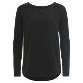 French Connection  Plain round neck jumper with long sleeves  women's Blouse in Black