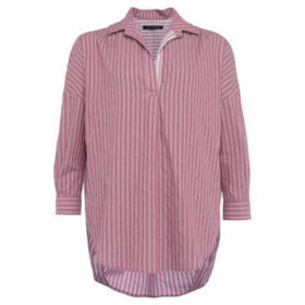 French Connection  Striped shirt with long sleeves  women's Shirt in Red