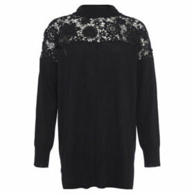 French Connection  Lace yoke sweater  women's Sweater in Black