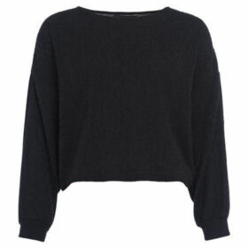 French Connection  Plain long sleeved sweater  women's Sweatshirt in Black